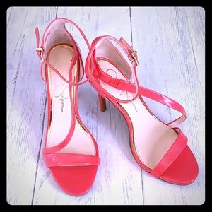 New Jessica Simpson Coral Ankle Strap Heels